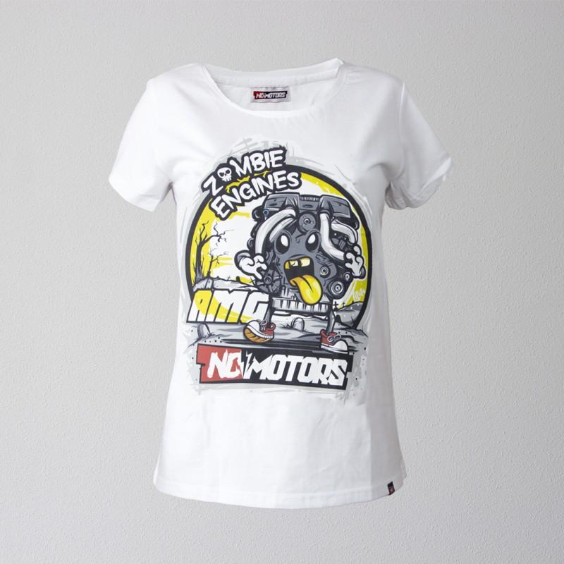 Футболка женская AMG (Белый)