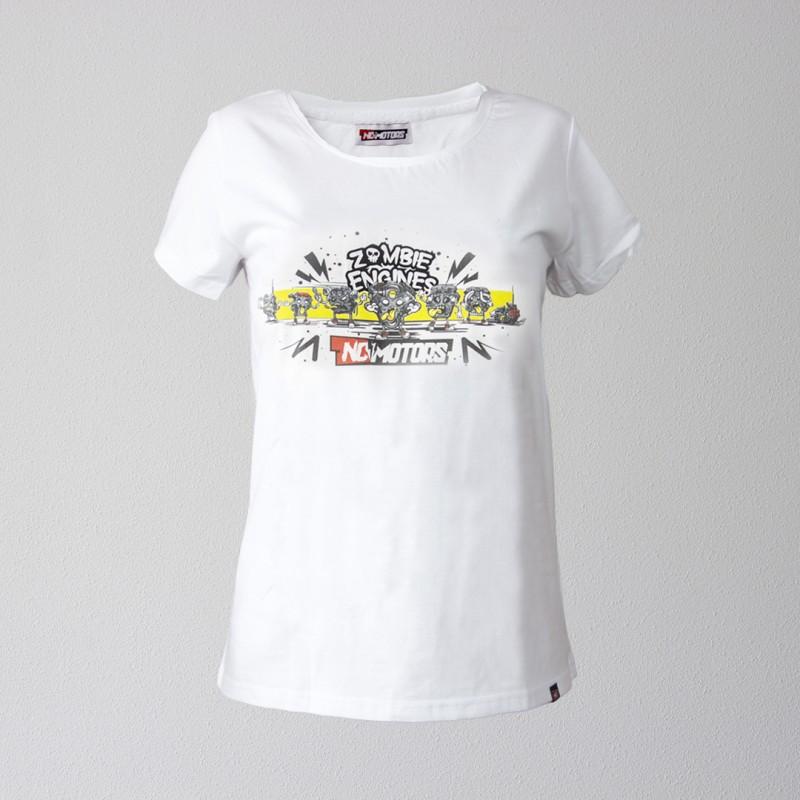 Футболка женская Zombie Engines (Белый)