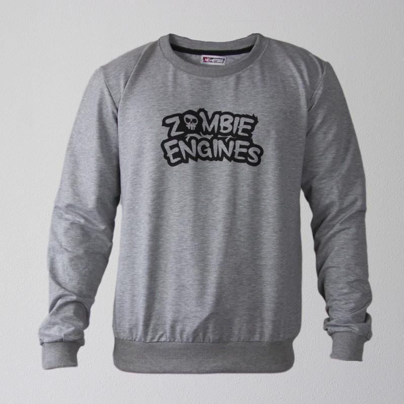 Свитшот Zombie Engines (Серый)